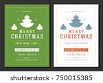 christmas party invitation... | Shutterstock .eps vector #750015385