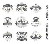 camping logos templates vector... | Shutterstock .eps vector #750018421