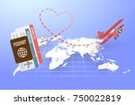 design love travel concept ...