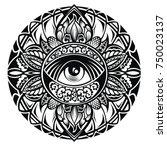 tattoo eye | Shutterstock .eps vector #750023137