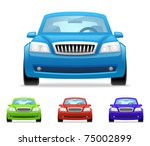 car icons | Shutterstock .eps vector #75002899