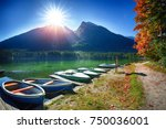 fantastic autumn day at...   Shutterstock . vector #750036001