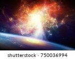 sci fi background  ... | Shutterstock . vector #750036994