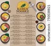 menu ramen noodle japanese food ... | Shutterstock .eps vector #750038821