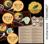 menu ramen noodle japanese food ... | Shutterstock .eps vector #750038827