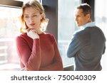 problems in relationships. sad...   Shutterstock . vector #750040309