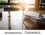 taxpayer's desk and excise... | Shutterstock . vector #750040825