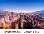 china's shenzhen city in the... | Shutterstock . vector #750041419