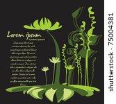 abstract decorative green flower | Shutterstock .eps vector #75004381