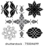 Set Of Vector Black Tracery Fo...