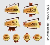 discount sticker label  special ... | Shutterstock .eps vector #750047371