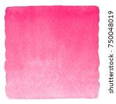 pink watercolor valentines day... | Shutterstock . vector #750048019