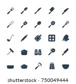 kitchen utensils vector icons... | Shutterstock .eps vector #750049444