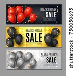 black friday sale horisontal... | Shutterstock .eps vector #750050695