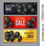 black friday sale horisontal... | Shutterstock .eps vector #750050704