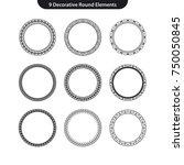 9 decorative round vector... | Shutterstock .eps vector #750050845