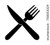 fork and knife icon | Shutterstock .eps vector #750053329