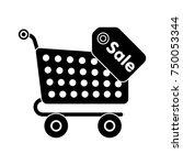 shopping cart saling icon   Shutterstock .eps vector #750053344