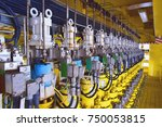 production choke valve with ice ... | Shutterstock . vector #750053815