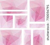 set of vector flyers. business... | Shutterstock .eps vector #750056791