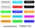 download glass buttons. oval... | Shutterstock . vector #750057751