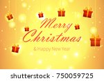 merry christmas vector... | Shutterstock .eps vector #750059725
