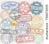 nashville tennessee stamp... | Shutterstock .eps vector #750073555