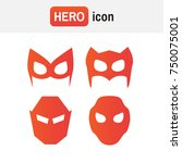 hero mask . super hero masks... | Shutterstock . vector #750075001