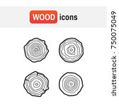 set tree rings icons... | Shutterstock . vector #750075049