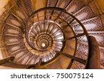 spiral stairs inside arc de...   Shutterstock . vector #750075124