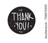 thank you. grange print for t... | Shutterstock .eps vector #750075595