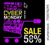 cyber monday banner | Shutterstock .eps vector #750078295