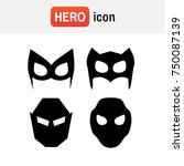 hero mask . super hero masks... | Shutterstock . vector #750087139