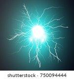 sky ball lightning any size... | Shutterstock .eps vector #750094444