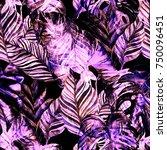 watercolor seamless pattern...   Shutterstock . vector #750096451