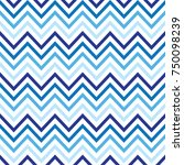 seamless chevron with blue color | Shutterstock .eps vector #750098239