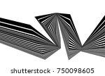 black and white stripe line... | Shutterstock .eps vector #750098605