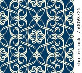 vintage seamless pattern in... | Shutterstock .eps vector #750098725