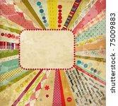 scrap template of vintage worn... | Shutterstock .eps vector #75009883