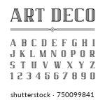 vector of art deco font and... | Shutterstock .eps vector #750099841