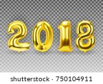 2018 new year background with... | Shutterstock .eps vector #750104911