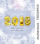 2018 new year background with... | Shutterstock .eps vector #750104914