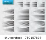 speed lines isolated. set of... | Shutterstock .eps vector #750107839