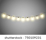 christmas lights isolated. xmas ... | Shutterstock .eps vector #750109231