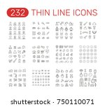 set of thin line icons... | Shutterstock .eps vector #750110071