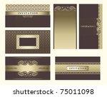 set of ornate vector frames....