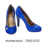 Blue Suede Shoes Isolated With...
