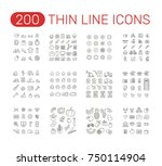 set of thin line icons... | Shutterstock .eps vector #750114904