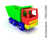 Toy lorry isolated - stock photo
