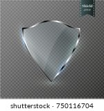 transparent shield.the banner... | Shutterstock .eps vector #750116704
